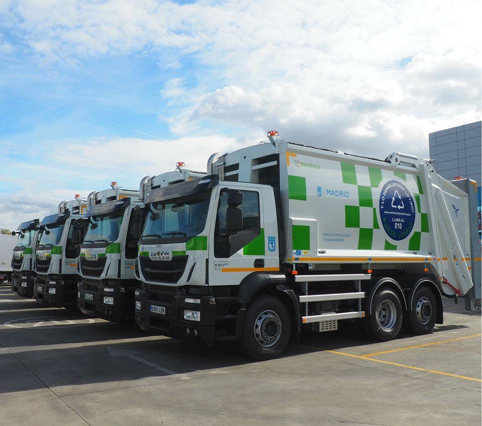 Camiones Iveco en el Ayuntamiento de Madrid