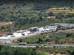 área de descanso en la AP7 en Castellón